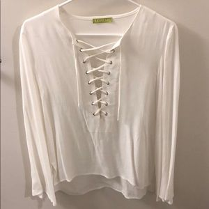 Tops - Off white long sleeve blouse